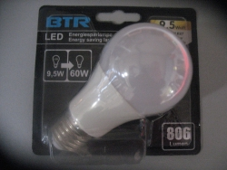 BTR  LED  9,5W  E27  2700K Retrofit