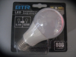 BTR  LED  9,5W  E27  2700K Retrofit dimmbar