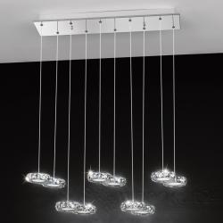 Eglo 39012 Corliano LED Kristall Pendelleuchte Serie 483