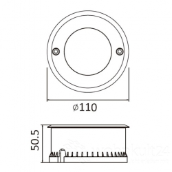 Lutec funktion Cydops 7042A  Boden-Aussenleuchte